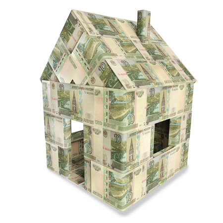 House made of 10 rubles bills photo