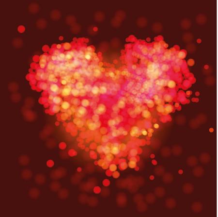 Sparkling heart Illustration