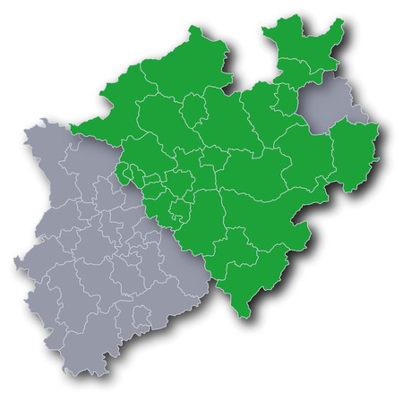 dysentery: Map of NRW and Westphalia