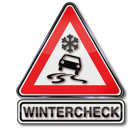 Sign winter check for your car Vector