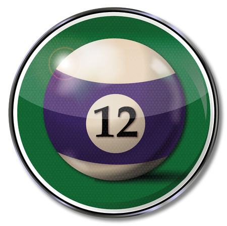 number 12: Sign with the billiard ball number 12