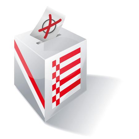 federal election: Ballot box Bremen Illustration
