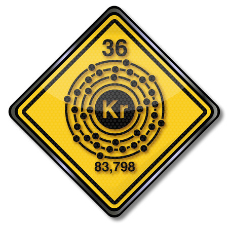 Sign chemistry character krypton