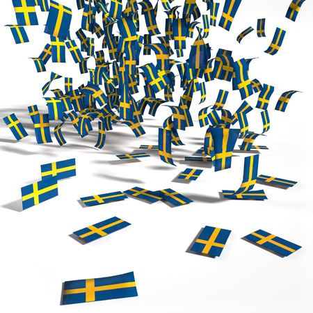 absentee: Many leaflets and flags of Sweden