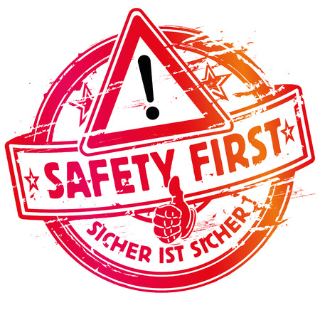 ocupacional: Sello de goma de seguridad siempre primero