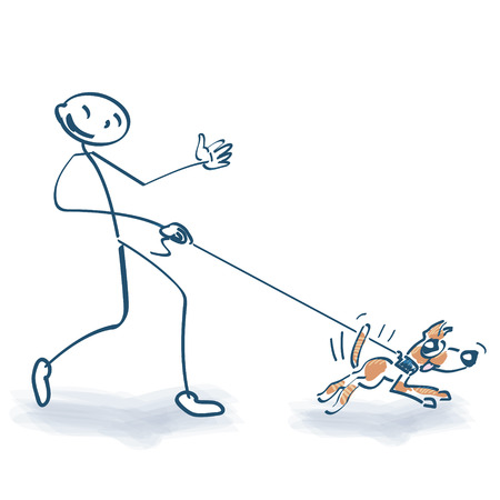 Stick figure with pooch Vector