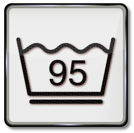 boiling point: Wash laundry symbol easy washing at 95 degrees celsius