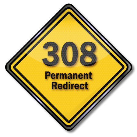 redirect: Computer sign and computer plate 308 permanent redirect