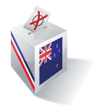 Ballot box New Zealand Vector
