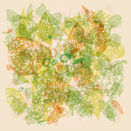 buttercup  decorative: Skeletons of leaves