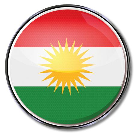 southwest asia: Button of Kurdistan Illustration
