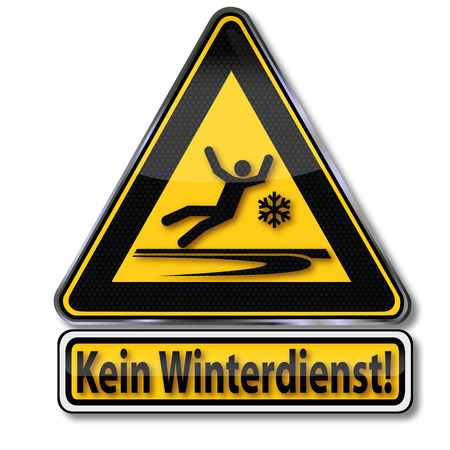 Warning sign no winter service Vector