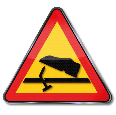 calzado de seguridad: Advertencia señal de precaución clavos salientes y lesión en el pie Vectores