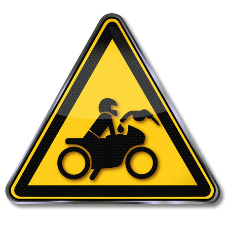 ongoing: Sign please do not refuel the motorcycle engine is running Illustration