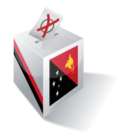 voters: Ballot box Papua New Guinea Illustration