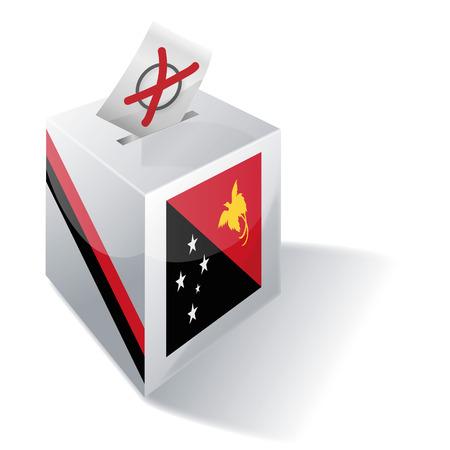 Ballot box Papua New Guinea Illustration