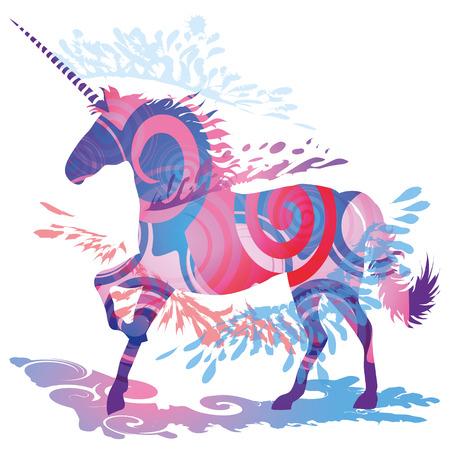 Schatten Blob mit Unicorn Standard-Bild - 33488780