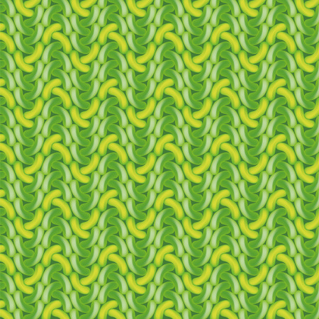 Green crochet pattern Vector