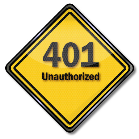 unauthorized: Computer sign computer plate 401 unauthorized Illustration