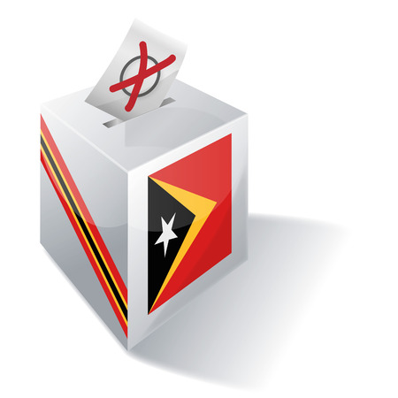 local elections: Ballot box East Timor Illustration
