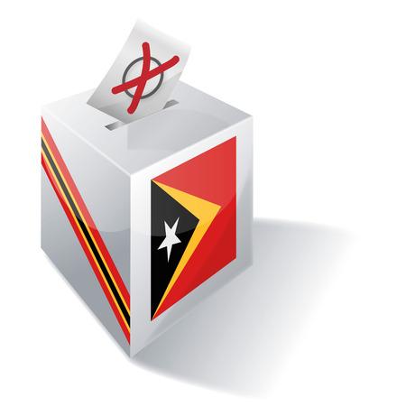 absentee: Ballot box East Timor Illustration