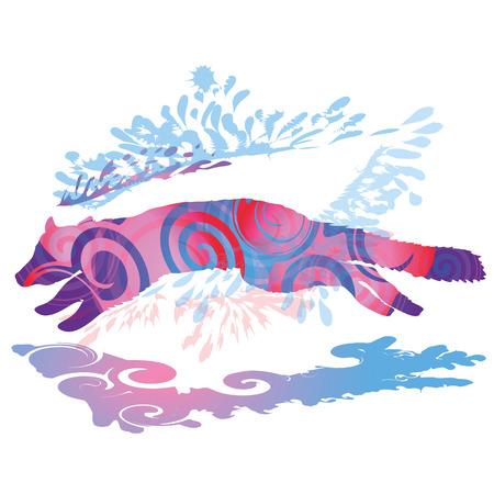 restlessness: Jumping marten Illustration