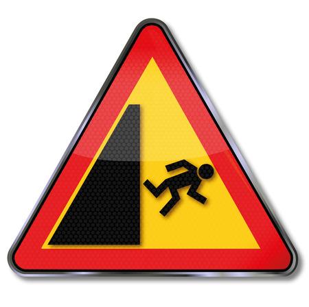 rise fall: Warning sign and crash risk  Illustration