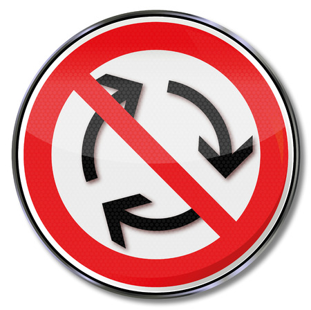 prohibit the production: Prohibition sign for left-hand traffic