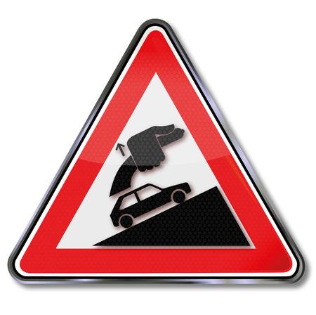 accidentado: Precauci�n siempre apretar el freno de mano Vectores