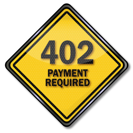 required: Computer plate 402 payment required
