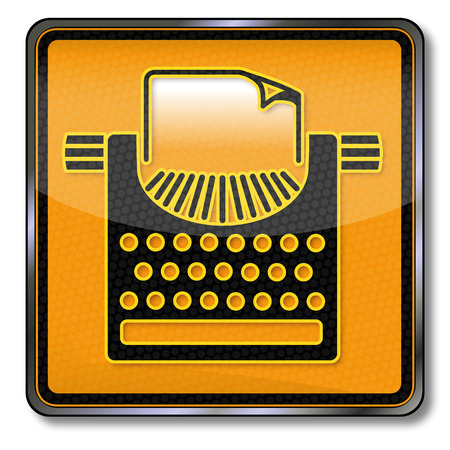 Sign with typewriter and press freedom Vector