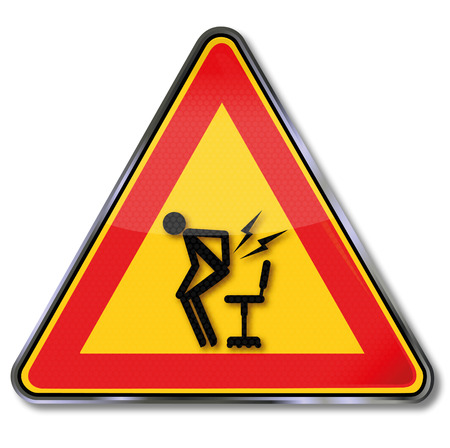 lumbago: Sign caution sudden pain by  getting up