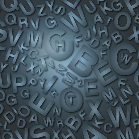 Dark letters Vector