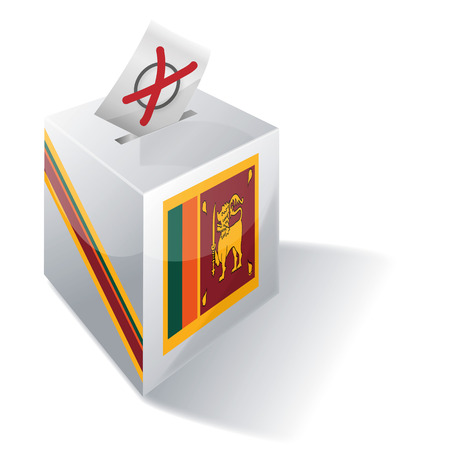 voting rights: Ballot box Sri Lanka Illustration