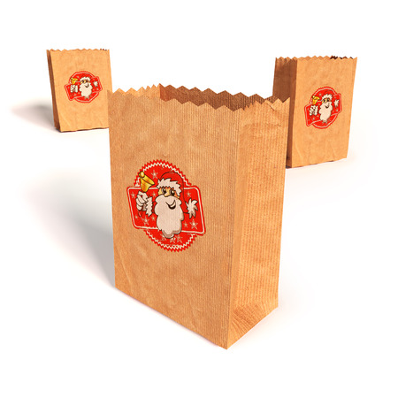 resell: Paper bags with with Santa Claus