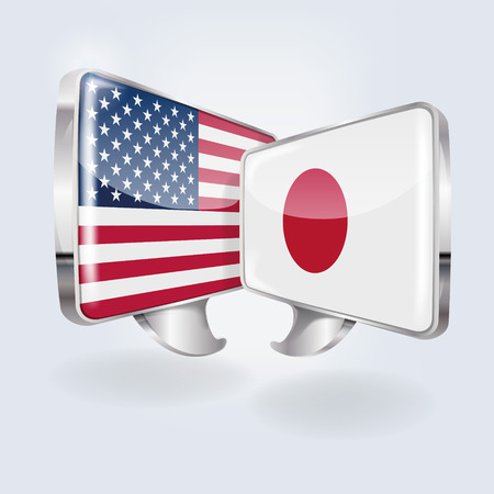 Bubbles and speech in Japanese and American