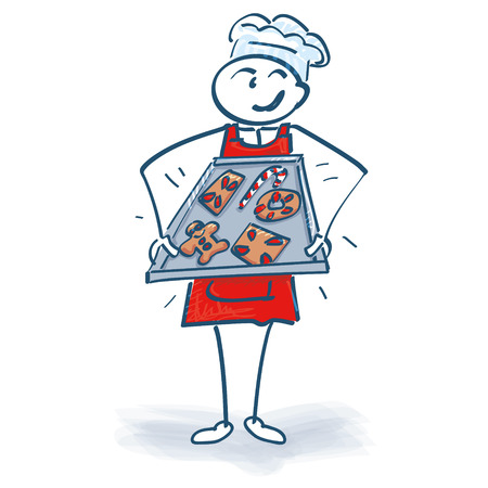 fruitcakes: Stick figure, bakery, confectionery and baking tray