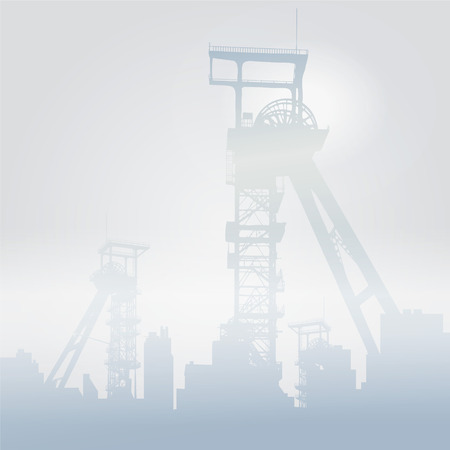 Winding towers in the snow Vector