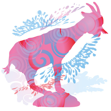 Shadow of a goat Vector