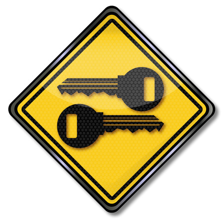 purchasing power: Shield keys and security Illustration