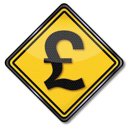 libra esterlina: Muestra de la libra esterlina como moneda Vectores