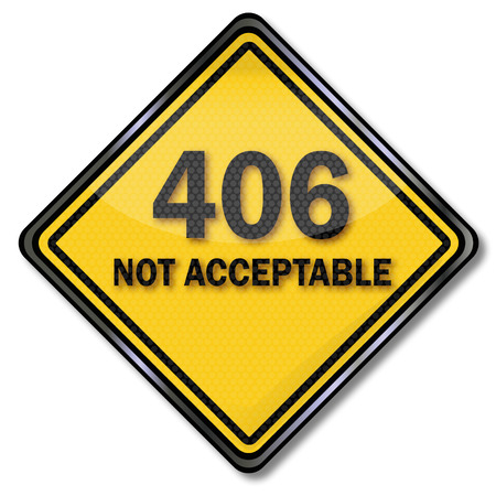 acceptable: Computer shield 406 not acceptable