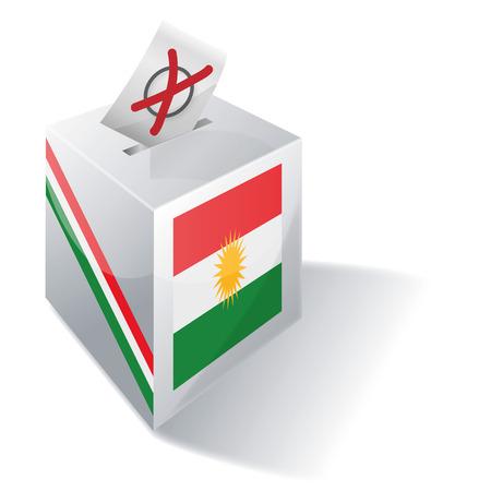 southwest asia: Ballot box Kurdistan Illustration