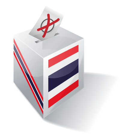 voting rights: Ballot box Thailand
