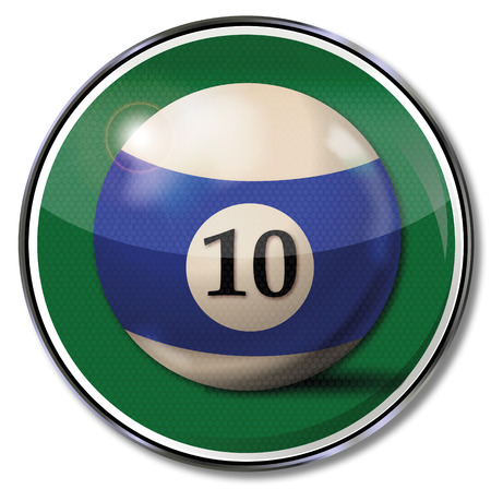 number 10: Sign billiard ball number 10