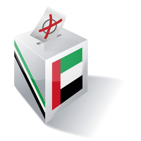 voting rights: Ballot box United Arab Emirates