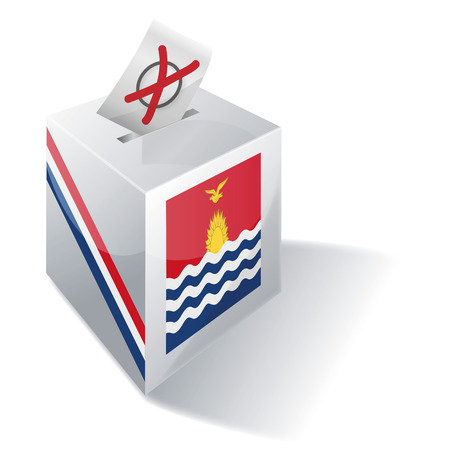 voting rights: Ballot box Kiribati Illustration