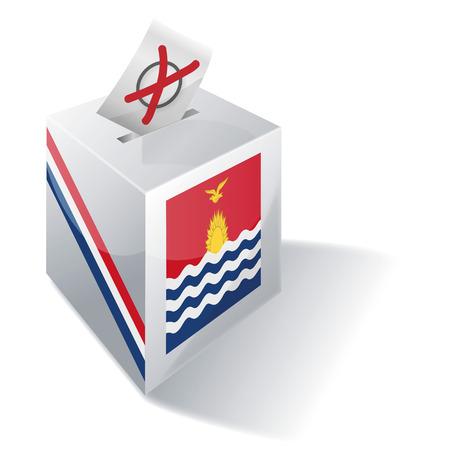 ballot box: Ballot box Kiribati Illustration