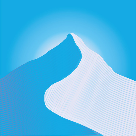 climate change: Snow in the mountains Illustration