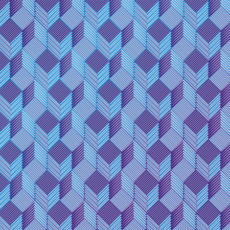 Blue dice on a fabric pattern Illustration
